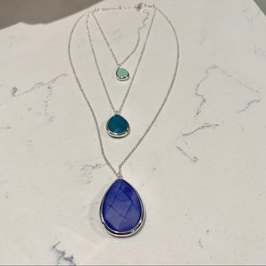 3 in 1 convertible Minaret blue sage necklace